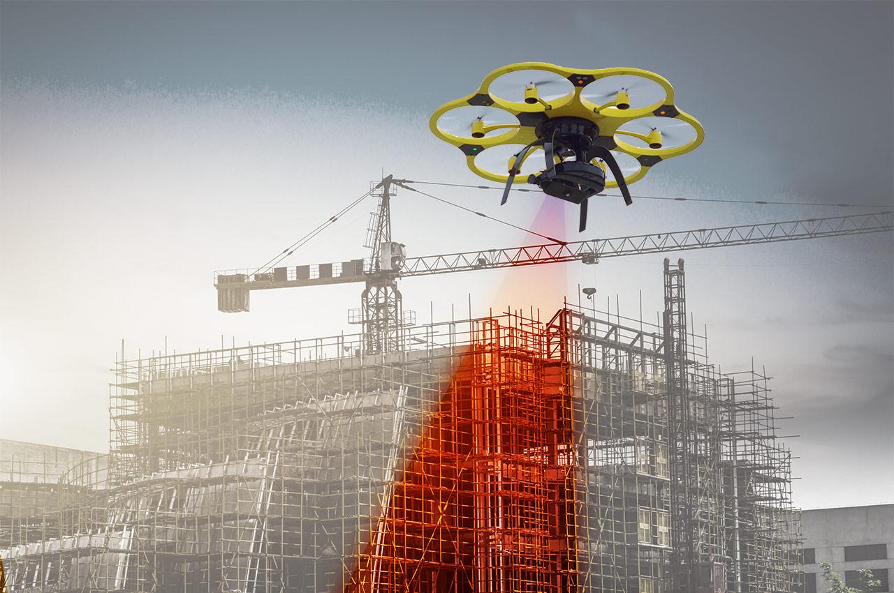 Aplicação de drones para inspeção de construções, estruturas e áreas urbanas